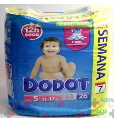 PAÑAL INFANTIL DODOT T- 5 13- 18 KG 26 U