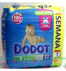 PAÑAL INFANTIL DODOT T- 3 04-10 KG 32 U