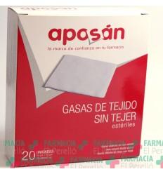 APOSAN GASA ESTERIL TEJIDO SIN TEJER COMPRESAS  10 CM X 10 CM 20 GASAS (2 U/SOBRE)