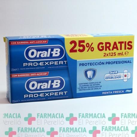 ORAL-B PRO EXPERT PROTECCION PROFESIONAL PASTA DENTIFRICA PACK 125 ML 2 U